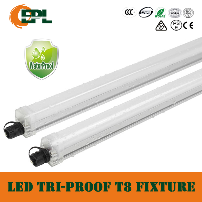 Ip65 led triproof t8 tube light garage light product for Tube led garage